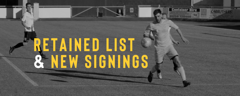 BSC Glasgow – Retained & New Signings List