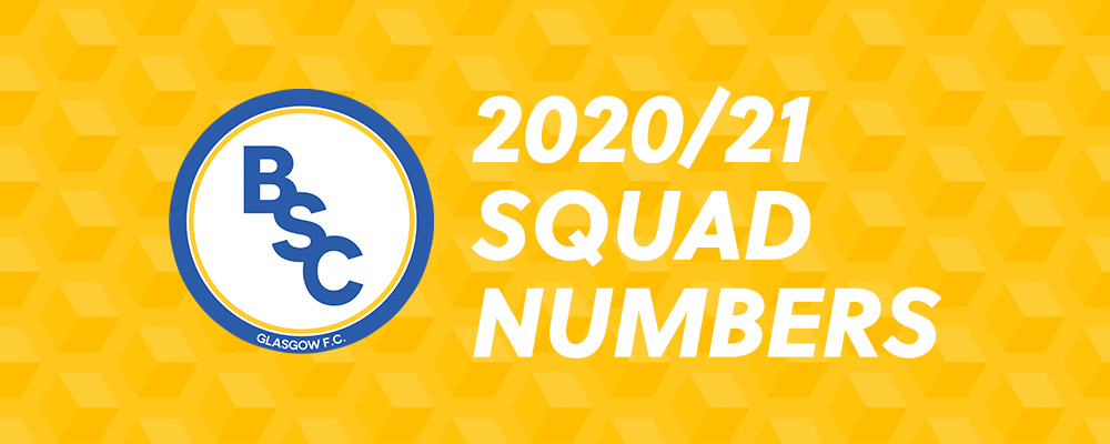 BSC Glasgow FC 2020/21 Squad Numbers